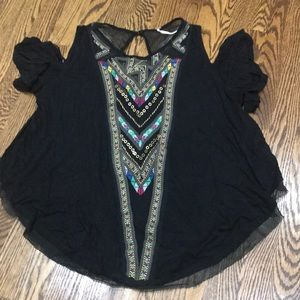 Free people open shoulder top size XS